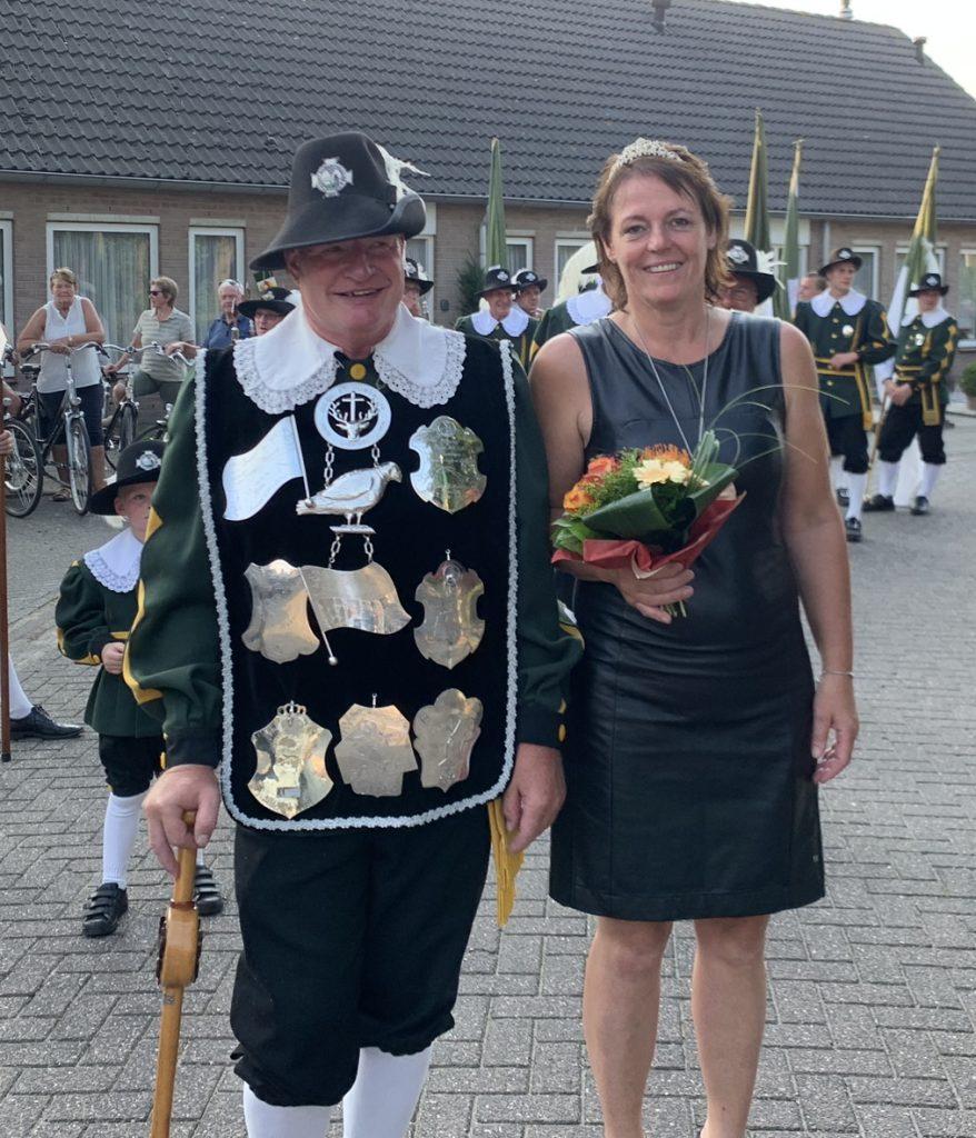 Sint Hubertus Gilde Liessel, Koning, Koningin, Jan, Verberne, Koningspaar